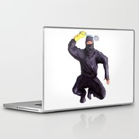 bathroom Laptop & iPad Skins featuring Bathroom Ninja by Del Gaizo