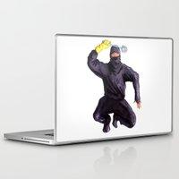 bathroom Laptop & iPad Skins featuring Bathroom Ninja by Del Gaizo