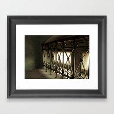 LOST PLACES - hidden bridge Framed Art Print