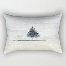 Lone tree in desert Rectangular Pillow