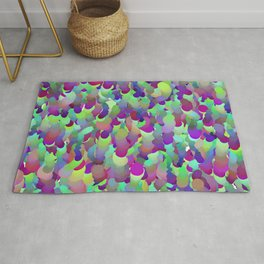 ombre squiggles Rug