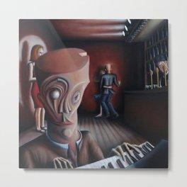 Bar Room Pianist Metal Print