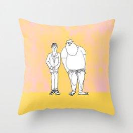 Two Dudes Throw Pillow