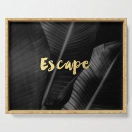 Escape - gold Serving Tray