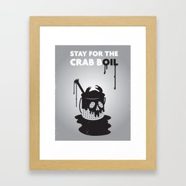 Stay for the Crab Boil Framed Art Print