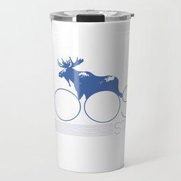 moose stache Travel Mug