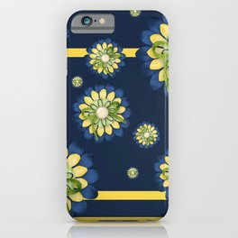 Blue and yellow Flowers iPhone Case