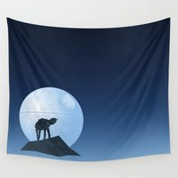 howl Wall Tapestries featuring Howl at at the Moon by geekchic