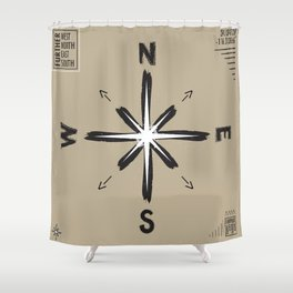 Further West / Further North / Further East / Further South Shower Curtain