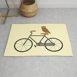 Owl Riding Bike Rug