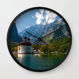 Outdoors, Church, Alps Mountains, Koenigssee Lake on #Society6 Wall Clock