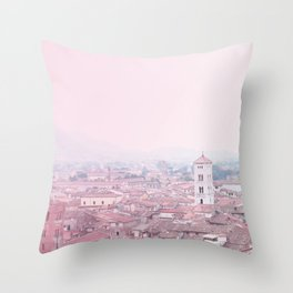 Tuscany city top view Throw Pillow