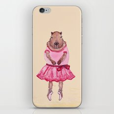 Capybara Ballerina  iPhone & iPod Skin