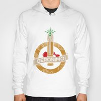 fez Hoodies featuring Geronimo by AmdyDesign