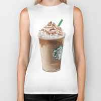 starbucks Biker Tanks featuring Starbucks clean by Amit Naftali