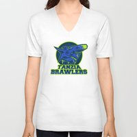 monster hunter V-neck T-shirts featuring Monster Hunter All Stars - The Tanzia Brawlers by Bleached ink