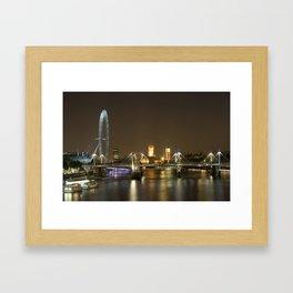 London skyline at night Framed Art Print