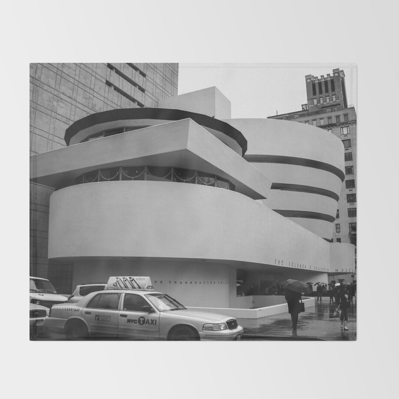 New York Solomon R Guggenheim Museum Frank Lloyd Wright Throw Blanket