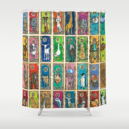 Money Animals Shower Curtain