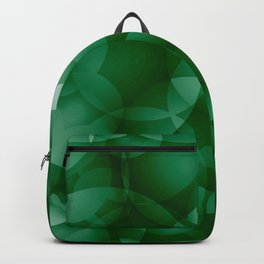 Dark intersecting green translucent circles in bright colors with a grassy glow. Backpack