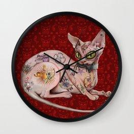 Ratty the Tattooed Sphynx Wall Clock