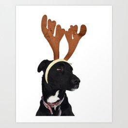 Rudy in Antlers Art Print