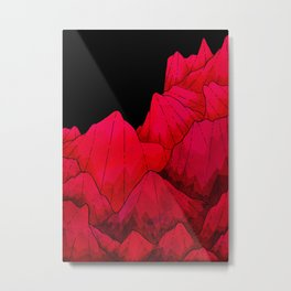 Rose red Rocks Metal Print