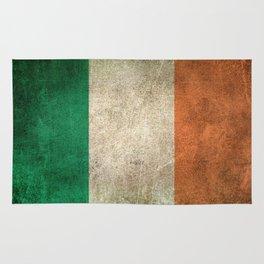 Old and Worn Distressed Vintage Flag of Ireland Rug