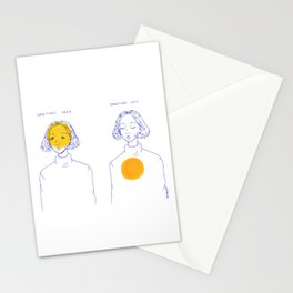 Sometimes Here, Sometimes Not Stationery Cards