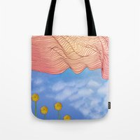 window Tote Bags featuring Window by Brontosaurus