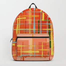 Abstract Orange Terminal Backpack