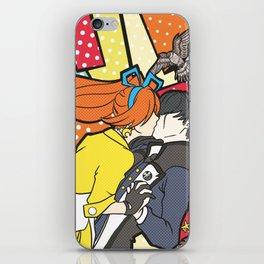 Cykesquill kiss iPhone Skin