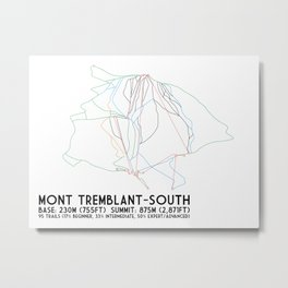 Mont Tremblant, Quebec, Canada -South Side - Minimalist Trail Art Metal Print