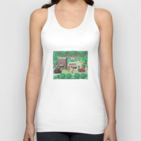 earthbound Tank Tops featuring Earthbound town by likelikes