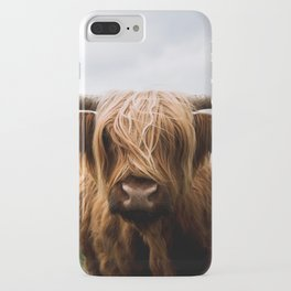 Scottish Highland Cattle in Scotland Portrait II iPhone Case
