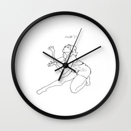 "Interpretive Dance: ""Chi"" Wall Clock"