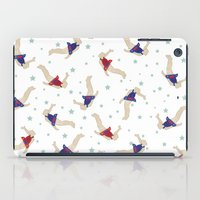 backpack iPad Cases featuring Rocket Backpack by Ottilie Baker