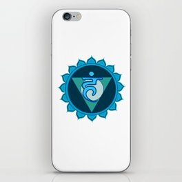 Vushuddha Throat Blue Chakra iPhone Skin