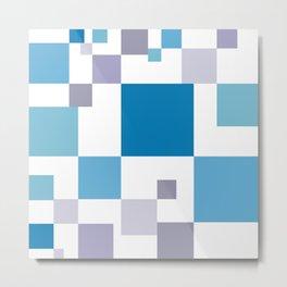 Square colorful tech background #society6 #decor #buyart #artprint Metal Print