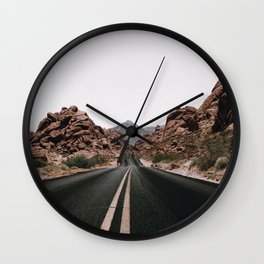 Road Trip / Valley of Fire Wall Clock