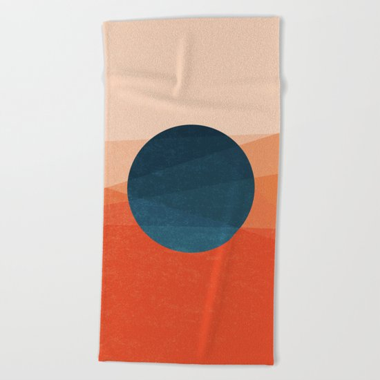 Solar Eclipse Beach Towel