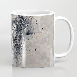 Geometric Wolf Mandala Coffee Mug