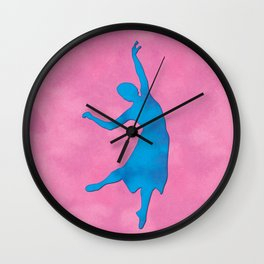 AP117 Watercolor dancer Wall Clock