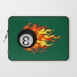 Flaming 8 Ball Laptop Sleeve