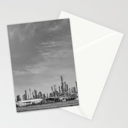 Oil refinery #blackwhite Stationery Cards