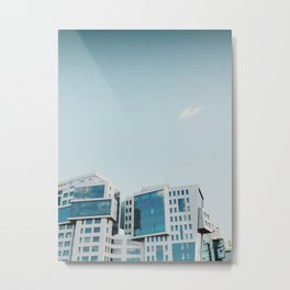 Pale blue vibe Metal Print