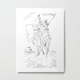 Medieval Rider Metal Print