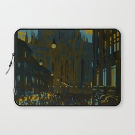 Vintage Made Modern: Italian Cityscape with Abstract Texture Laptop Sleeve