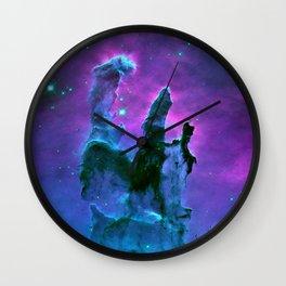 Nebula Purple Blue Pink Wall Clock