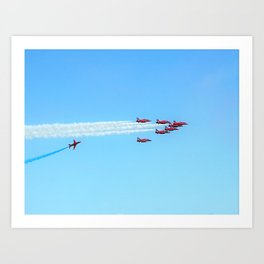 Red Arrows 2 Art Print